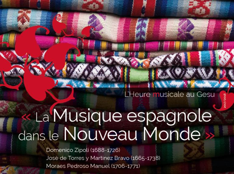 24 juin 2018 : la Musique espagnole dans le Nouveau Monde